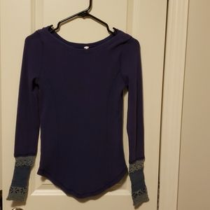 Free People sweater cuff thermal